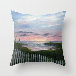 Niki's Beach Throw Pillow