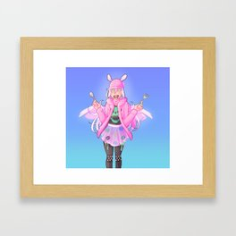 Hirajuku Iris Framed Art Print