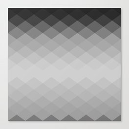 Black and white rombs pattern Canvas Print
