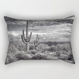 The Sonoran Desert in Black and White Rectangular Pillow