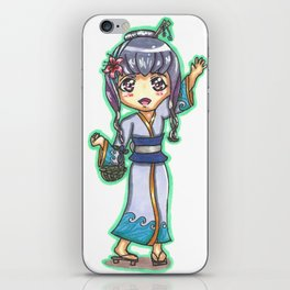 Chibi Anime Girl iPhone Skin