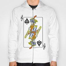 musical poker / trombone Hoody