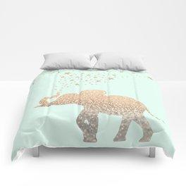 ELEPHANT - GOLD MINT Comforters