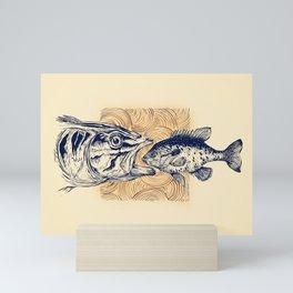 Ocean drama Mini Art Print
