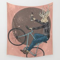 jackalope Wall Tapestries featuring Jackalope by Kelli Shaver