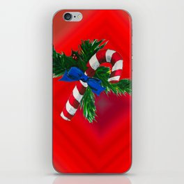 Christmas Candy Cane iPhone Skin