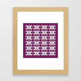 Oh, deer! in violet purple Framed Art Print