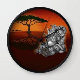 Tender Rhino  Wall Clock