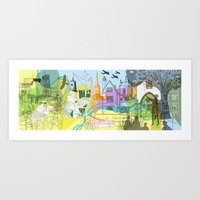Norwich- City of Stories Art Print