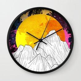 Cosmos Mounts Wall Clock