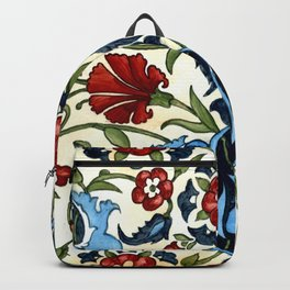 Mediterranean Tile with Carnations Backpack