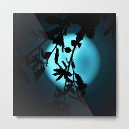 Heavenly Vines in Teal Metal Print