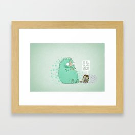 Monster and Tea Framed Art Print