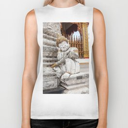 sleeping guardian of the temple Biker Tank