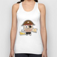pirate Tank Tops featuring PIRATE by AnishaCreations