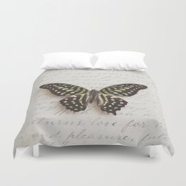 Graphium agamemnon butterfly Duvet Cover