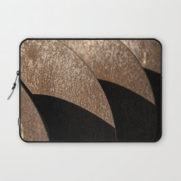 Rusted Disker Plow Light and Shadow Abstract Laptop Sleeve