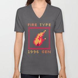 Fire Type Unisex V-Neck