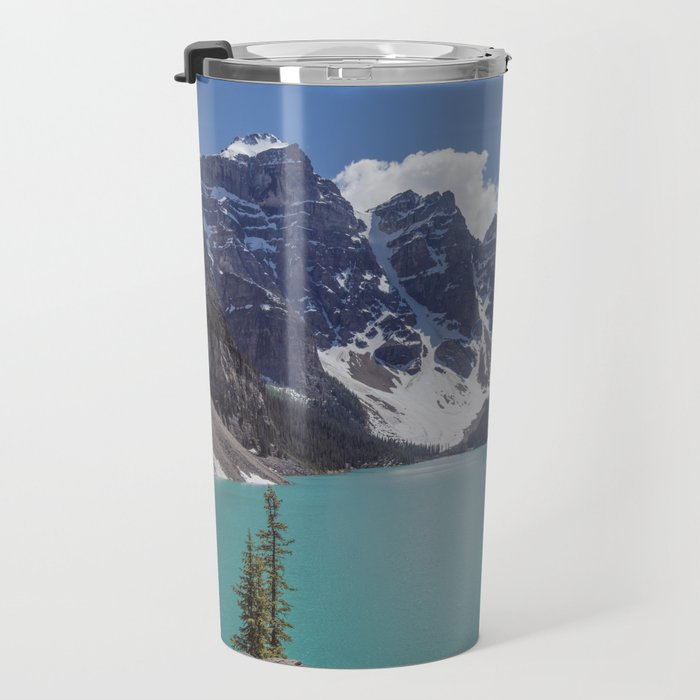 Lake Moraine Top View Travel Mug