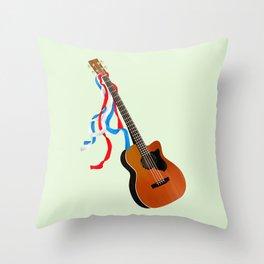 Acoustic Bass Throw Pillow