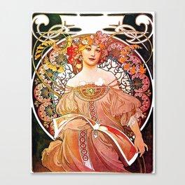 Alphonse Mucha Daydream Floral Vintage Art Nouveau Canvas Print