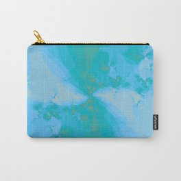 Shattered in Light Blue Carry-All Pouch