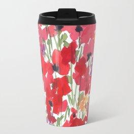 Little Red Poppy Patch Travel Mug