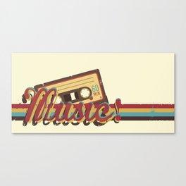 Music! (Retro Style) Canvas Print
