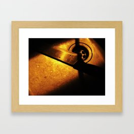 Knife in the night Framed Art Print