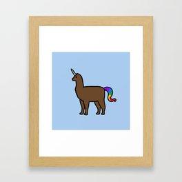 Alpacacorn Framed Art Print