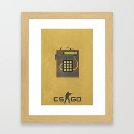 Counter Strike Minimalist Poster Framed Art Print