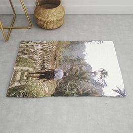 Man Tegallalang Rice Terraces Art Print |  Ubud Bali Indonesia Photo Art Print | Travel Photography Rug