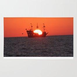 Pirate sunset Rug