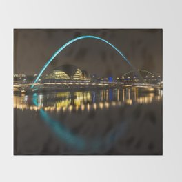 Newcastle at night Throw Blanket