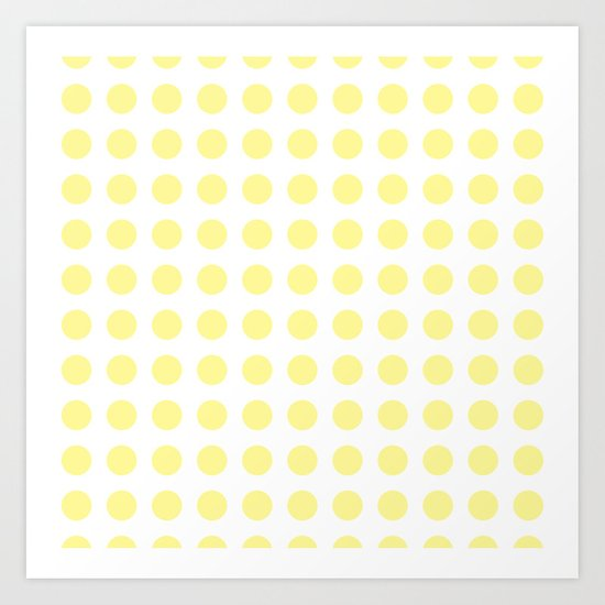 Simply Polka Dots in Pastel Yellow Art Print