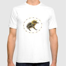 The Lowland Streaked Tenrec SMALL White Mens Fitted Tee