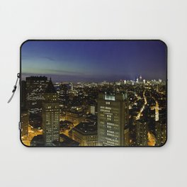 Downtown Manhattan at Night Laptop Sleeve