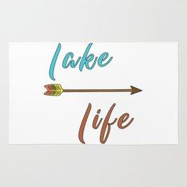Lake Life - Summer Camp Camping Holiday Vacation Gift Rug
