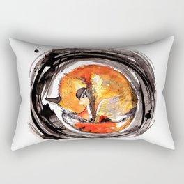 Sleeping Fox Rectangular Pillow