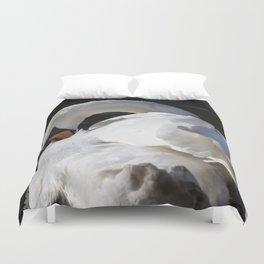 Peaceful Swan Duvet Cover