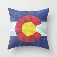 colorado Throw Pillows featuring Colorado by Fimbis