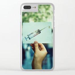 syringe symbol Clear iPhone Case