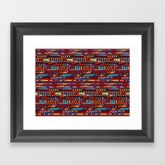 Manly cubes of color Framed Art Print