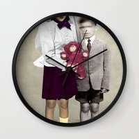 bride Wall Clocks featuring Bride by Momenti Riciclati