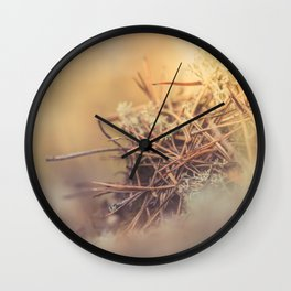 White reindeer moss photo Wall Clock