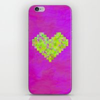 valentines iPhone & iPod Skins featuring Neon Valentines by Fimbis