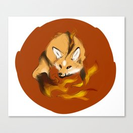 Mythological Fox: Monster of Fire Canvas Print