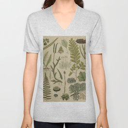 Ferns And Mosses Unisex V-Neck