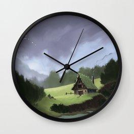 Lone Shack Wall Clock