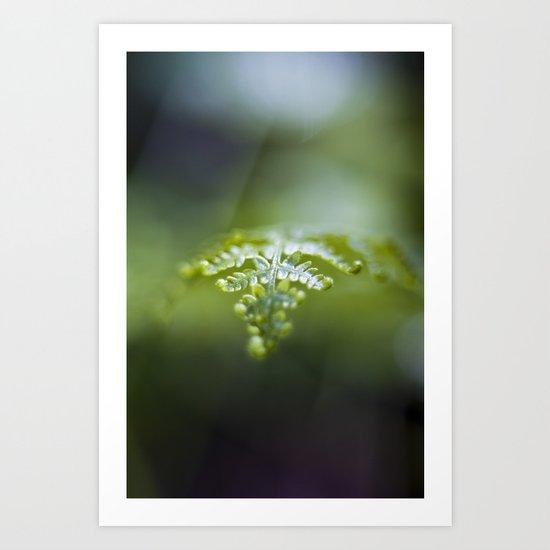 Raining Green Art Print
